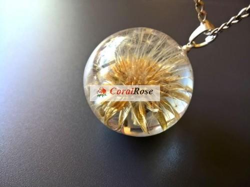 Biżuteria Z żywicy Naszyjnik Dmuchawiec W żywicy 3 Coralrose